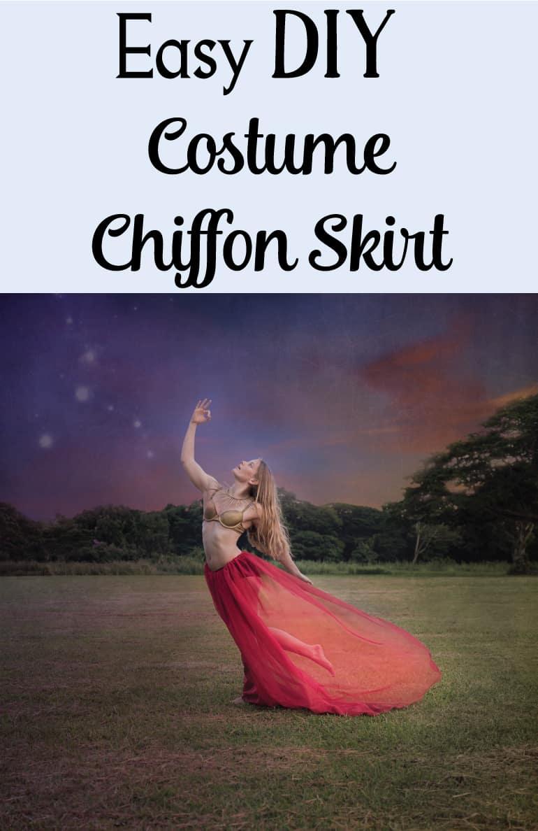 Easy Costume Chiffon Skirt Tutorial
