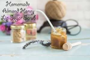 Homemade Honey Almond Lip Sugar Scrub