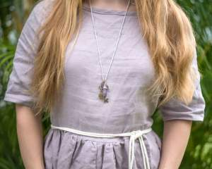Anthro-Inspired Crystal & Key Necklace Tutorial