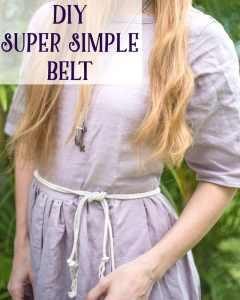 Super Simple DIY Belt Tutorial