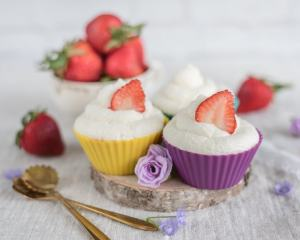 Strawberry Shortcake Cupcake Recipe with Whipped Cream Frosting