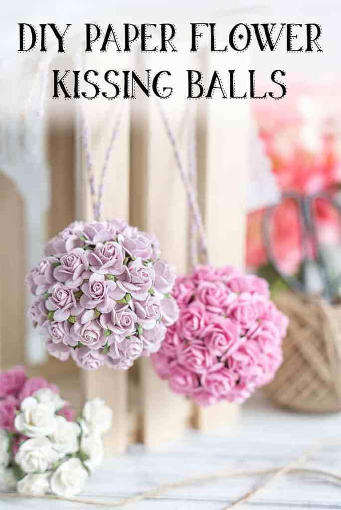 DIY paper flower kissing ball tutorial