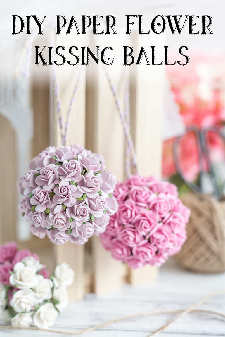 DIY Paper Flower Kissing Ball Tutorial