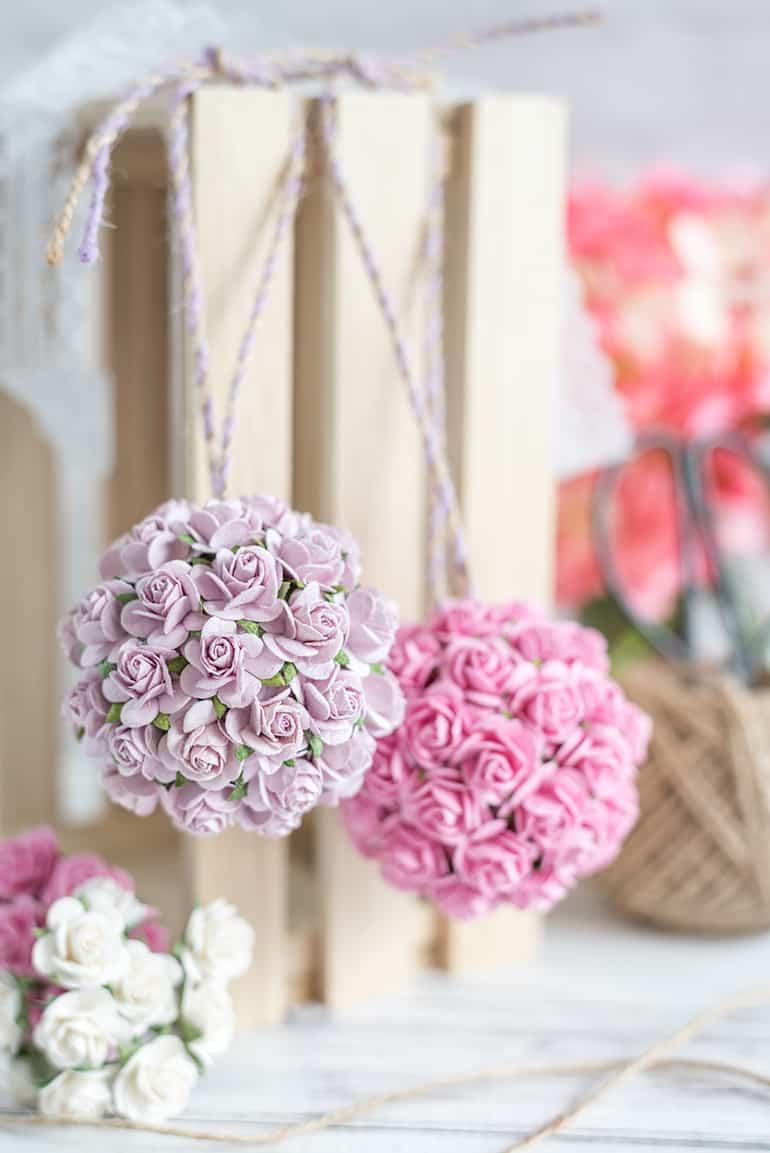Paper Flower Kissing Ball Tutorial Diy Wedding Paper Flower