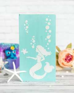 easy beachy mermaid sign tutorial