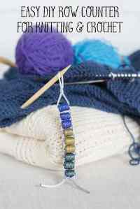 easy DIY row counter for knitting and crochet