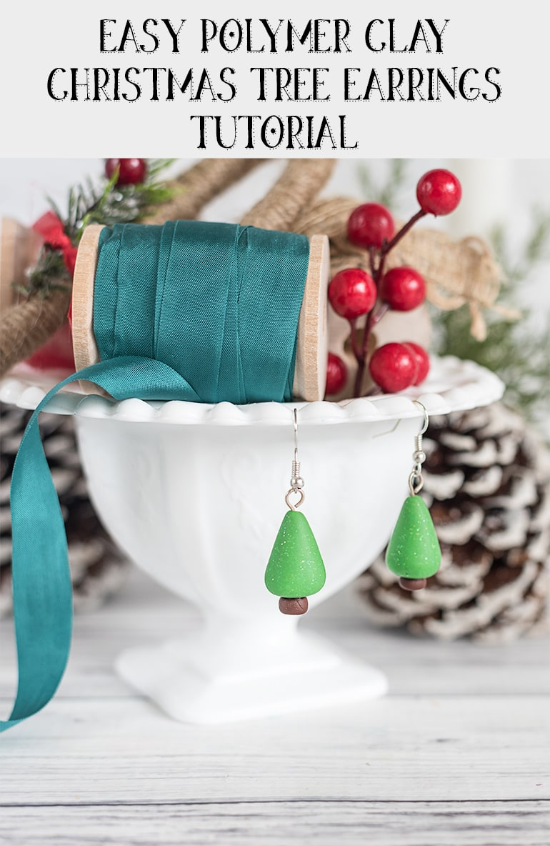 Easy Polymer Clay Christmas Earrings Tutorial