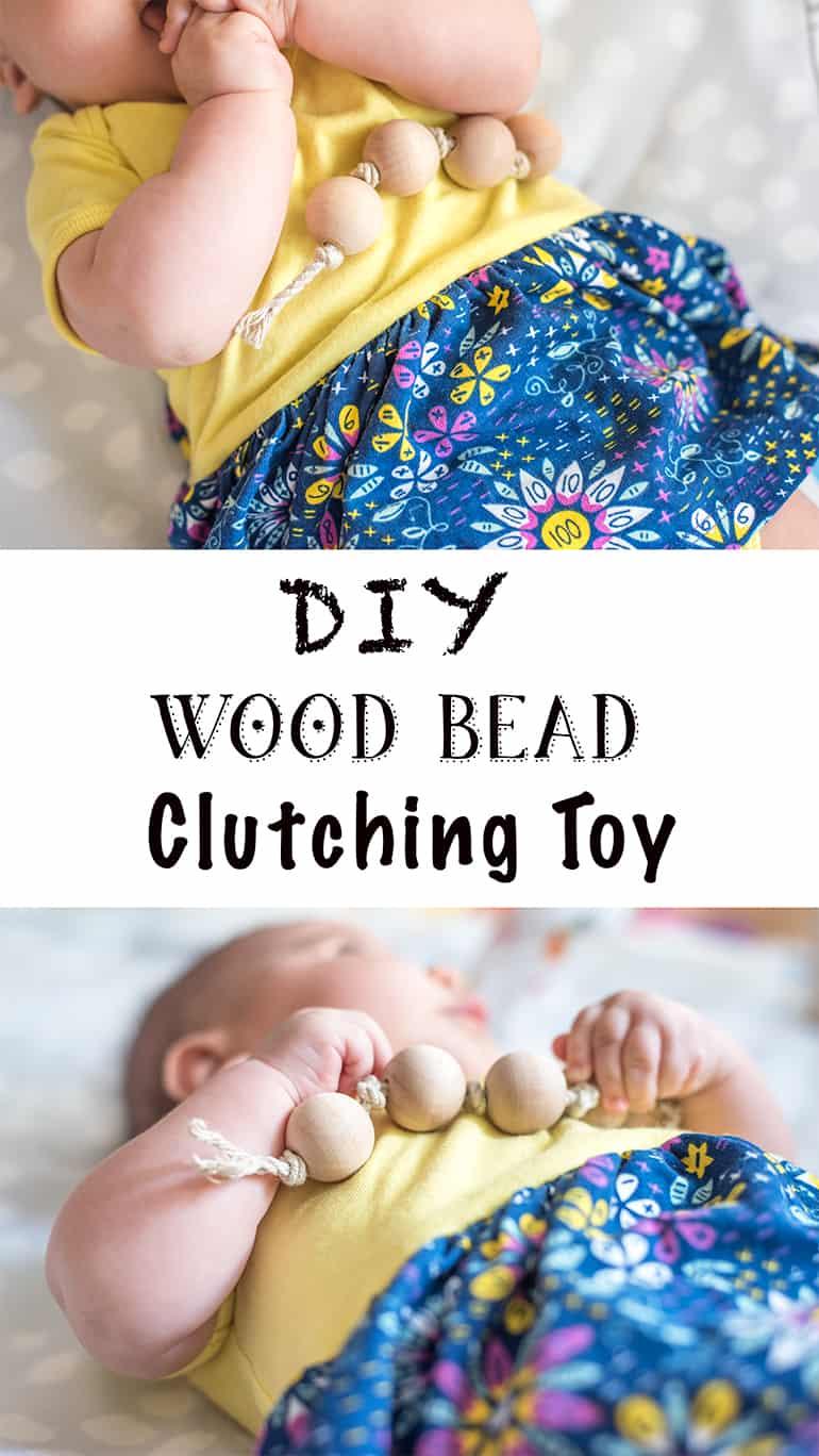 DIY wood bead clutching toy tutorial