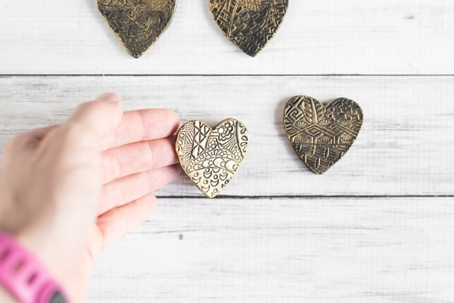 Gilded Polymer Clay Valentines Tutorial