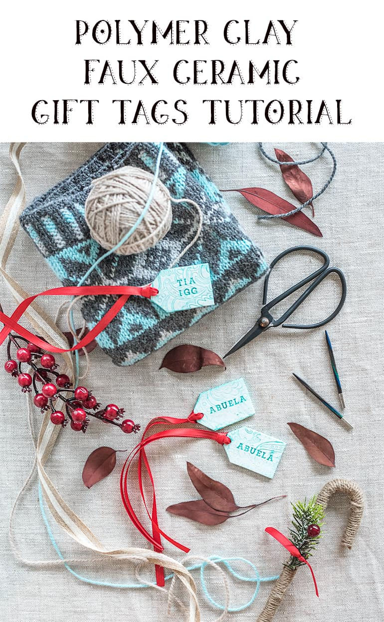 Polymer Clay Faux Ceramic Gift Tag Tutorial