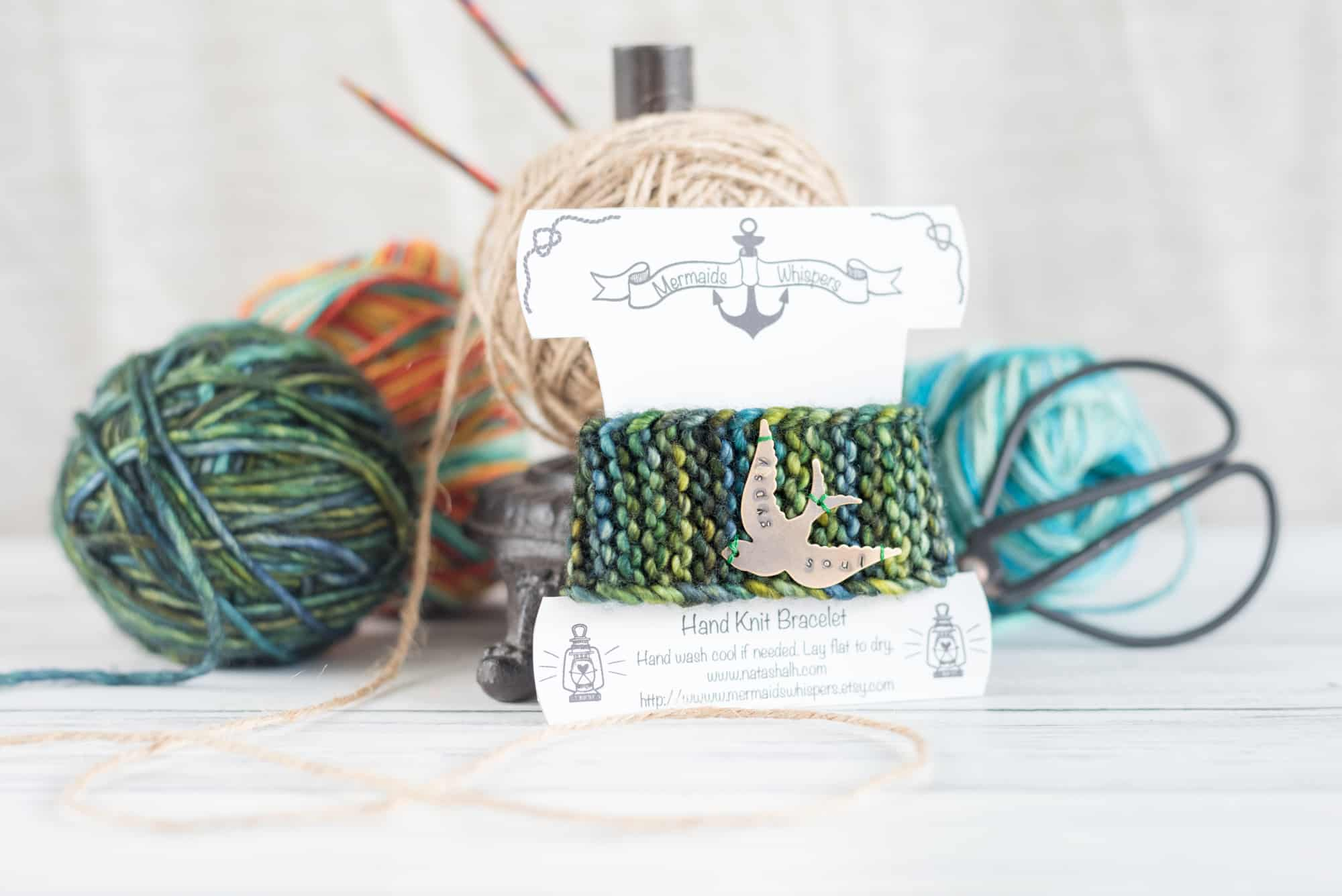 Currently Crafting – Knitted Bracelets