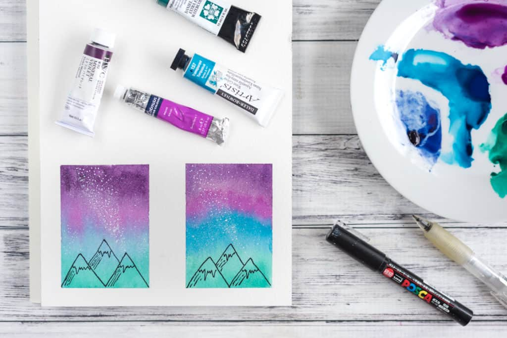 Watercolor Galaxy Painting Tutorial