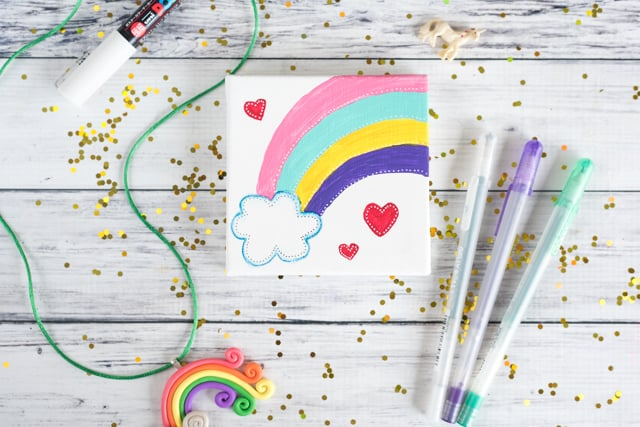 Self-Acceptance Rainbow Mini Art Tutorial