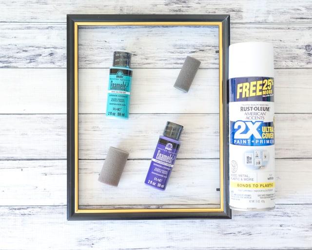 materials for easy DIY dry erase board