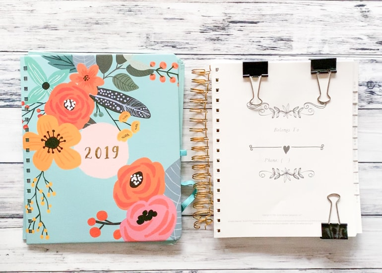 how to add pages to a coil bound planner