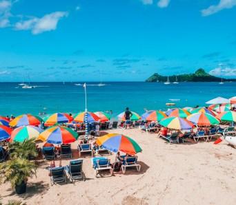 Reduit Beach, St Lucio