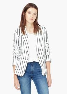 Come indossare le righe PE 2016 mango giacca
