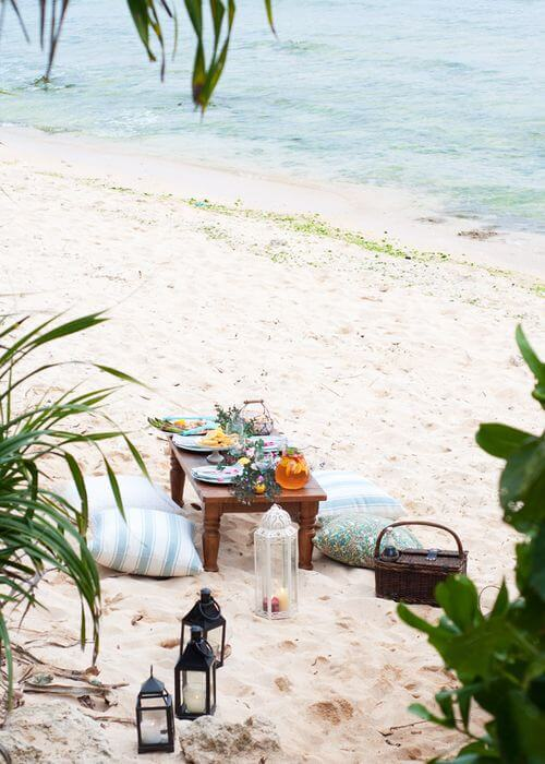 pic nic mare Beach Bliss Living