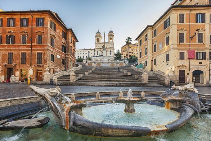 Самые красивые площади Италии, piazza di spagna