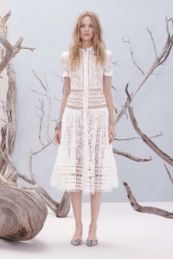 indossare il colore bianco Zimmermann Resort 2017