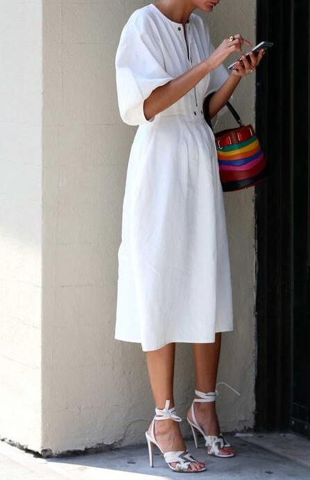 indossare il colore bianco Fashionista