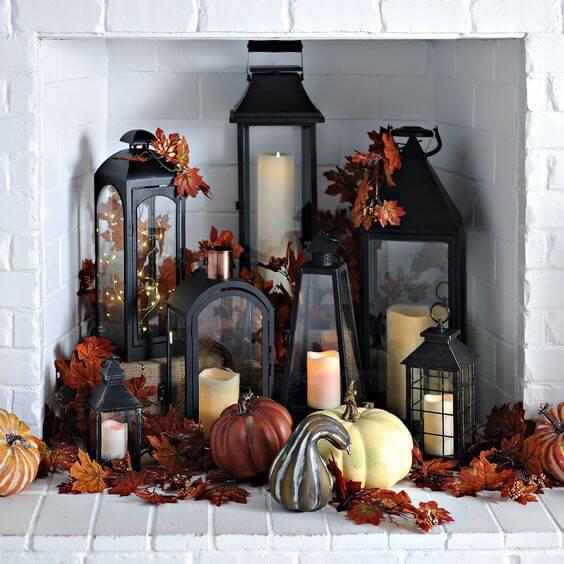 decorare casa con le foglie d'autunno ideasforinterior.com