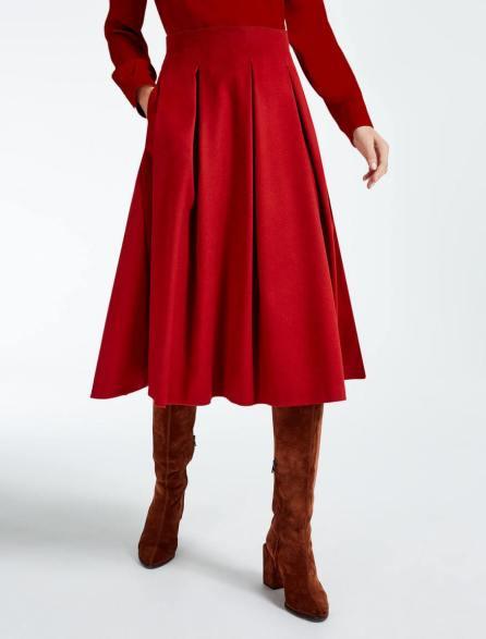 vestirsi di rosso gonna max mara-2