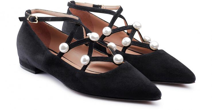 scarpe gioiello perle