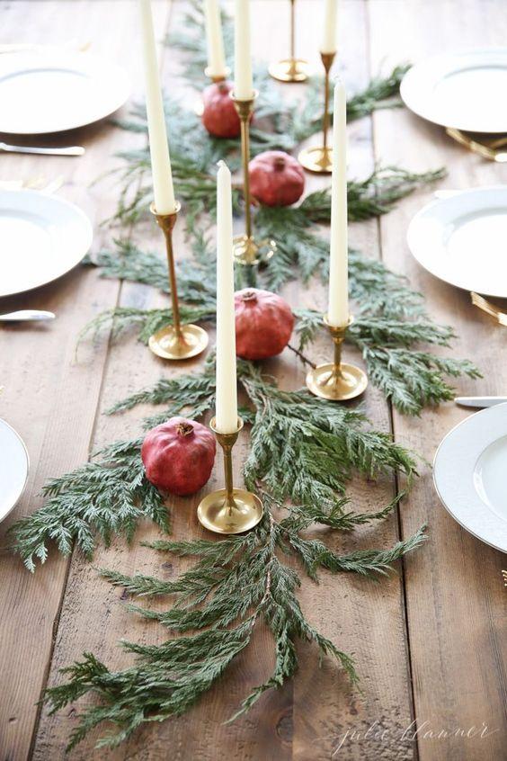 idee furbe per la tavola di Natale melograna
