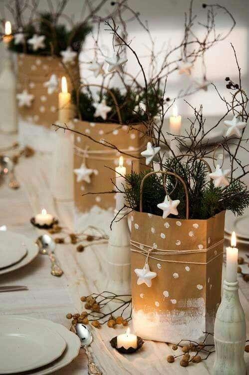 idee furbe per la tavola di Natale stelle