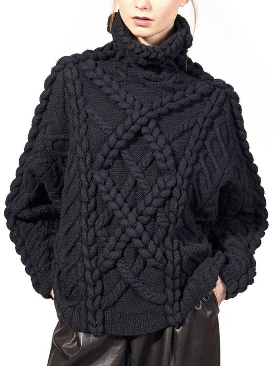 maglioni oversize nero