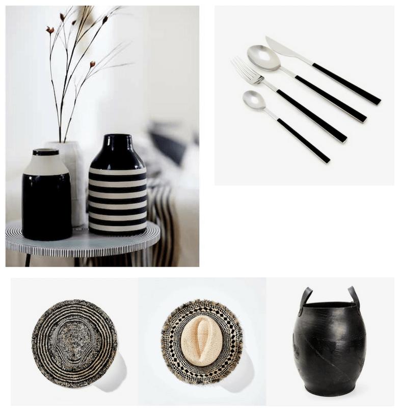 Идеи декора для дома в черно-белой гамме, Zara homara home