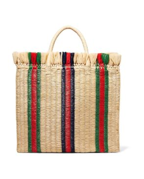 Borse dell'estate 2018 gucci-beige-Linea-Cestino-Striped-Raffia-Tote