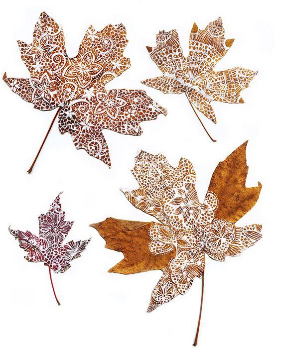 decorare la casa in autunno 9 idee foglie disegnate
