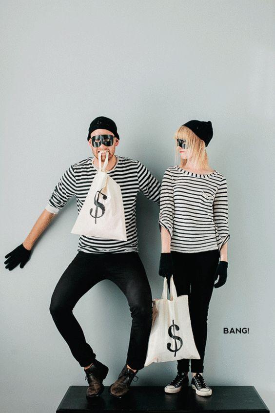 Idee per travestirsi in coppia ad Halloween Ladri