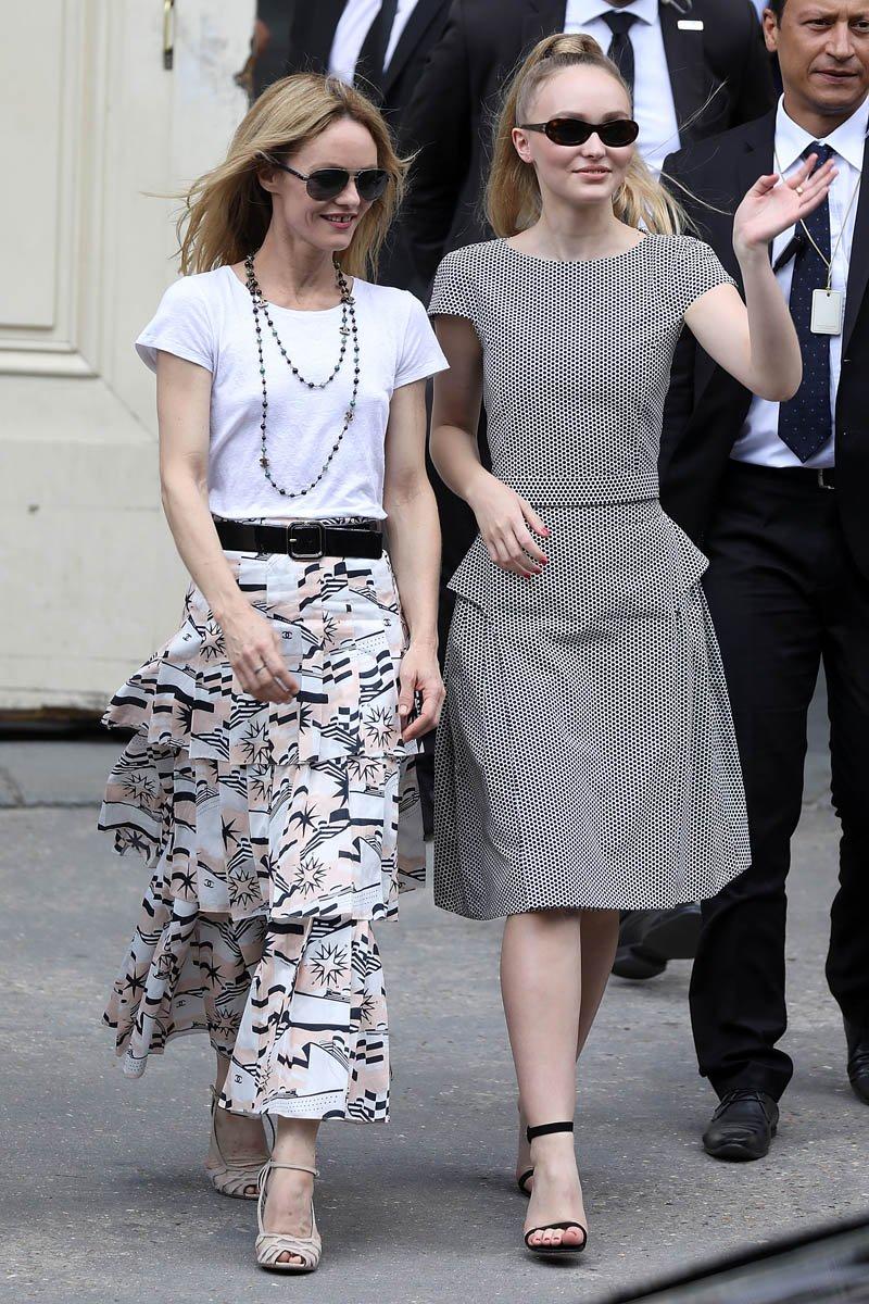 Fashion madre e figlia vanessa paradis
