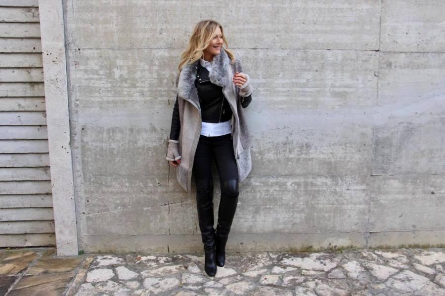 Vestirsi a strati con eleganza Natasha Stefanenko
