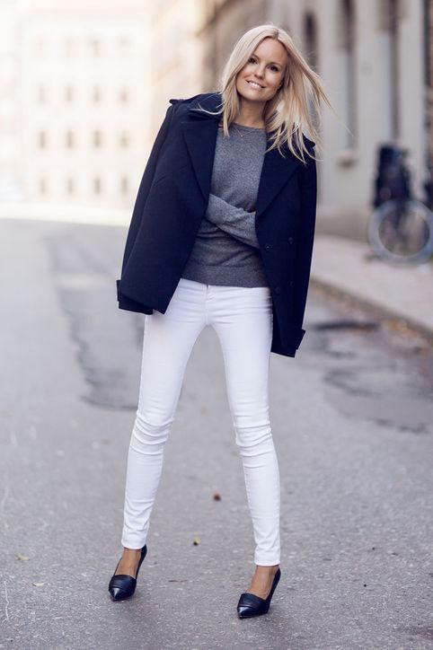 come indossare i jeans bianchi in inverno glamour.com