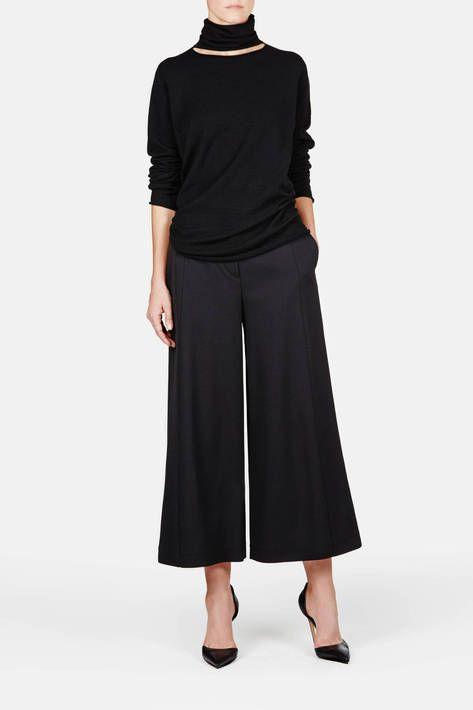 Как одеваться девушкам невысокого роста, широкие брюки