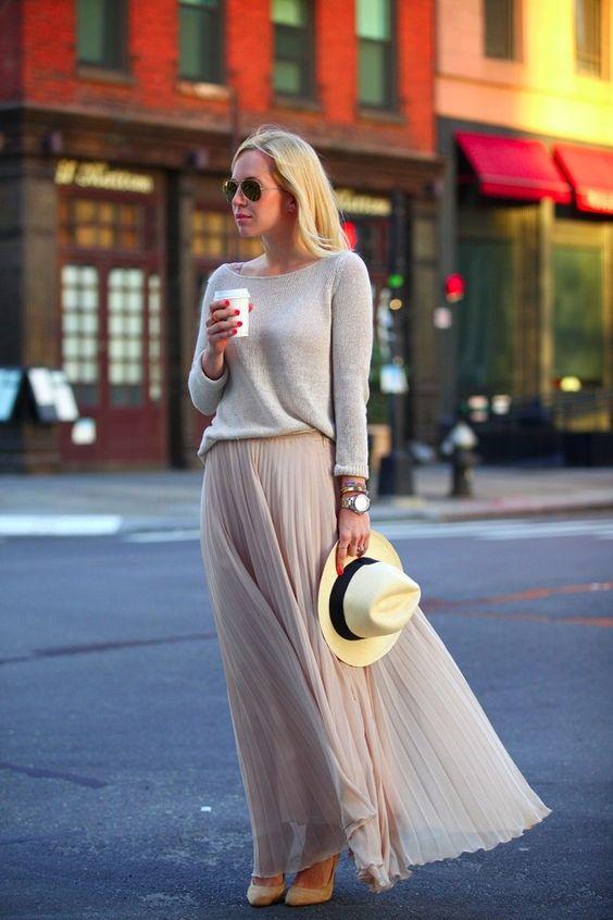 Как носить летние вещи осенью, юбка