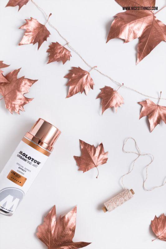 5 идей ноября, листья