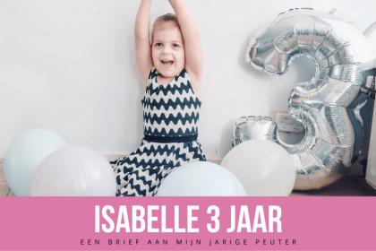 Isabelle 3 jaar