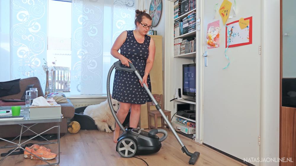 chaotisch huishouden stofzuigen