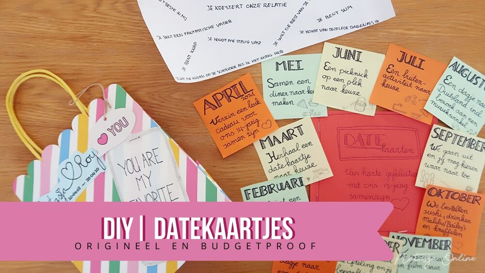 DATEKAARTJES DIY