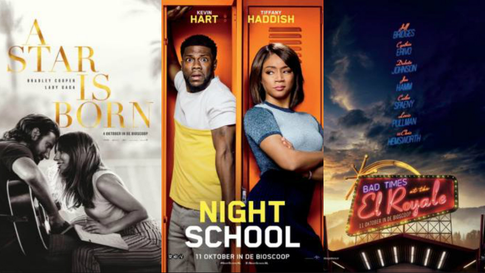 a star is born, night school, bad times at the el royale movie review
