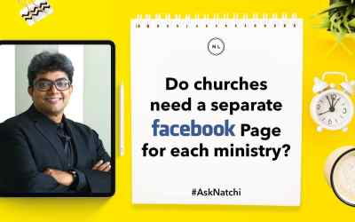 Do churches need a separate Facebook Page for each ministry? #AskNatchi