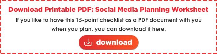 Download PDF Social media planning template