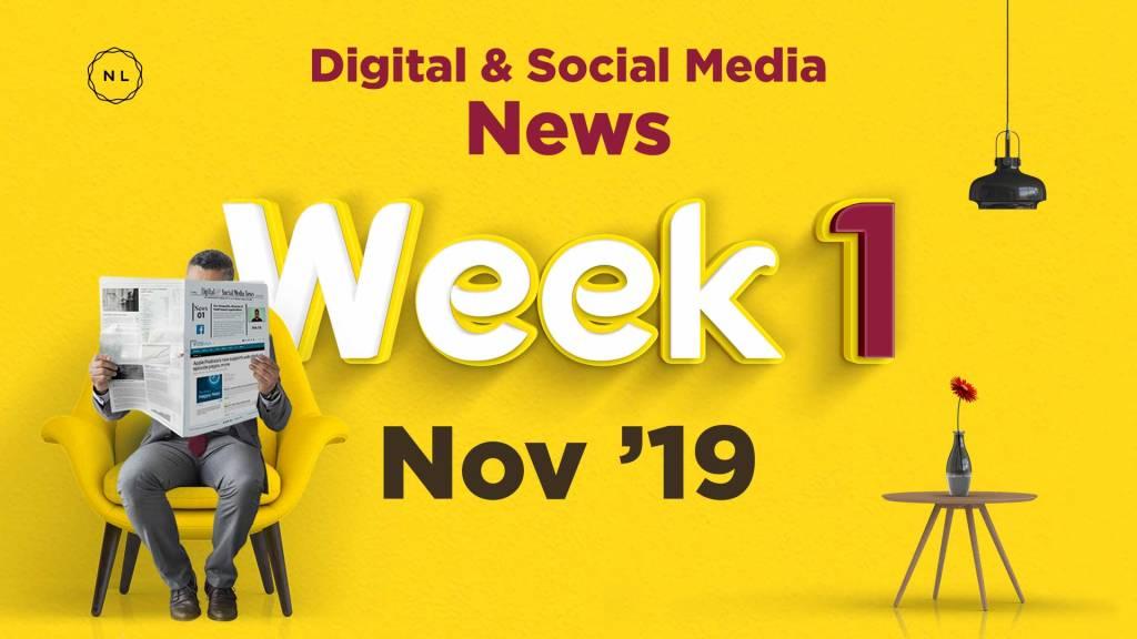 Digital and Social Media News for Nonprofit Church Ministry - November 2019, Week 1
