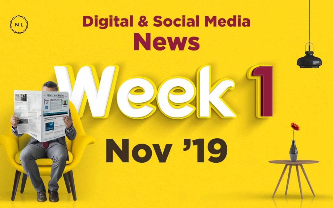 [Week 1, Nov 19] Digital & Social Media News for Nonprofits & Churches