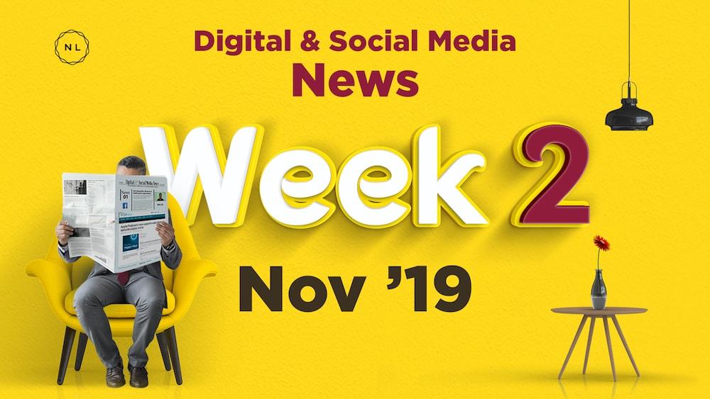 Digital and Social Media News for Nonprofit Church Ministry - November 2019, Week 2